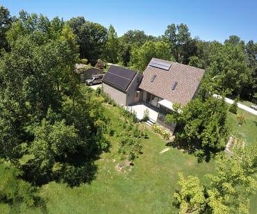 Residential Solar panels on rural home