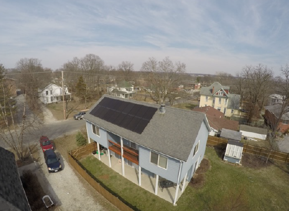 Missouri Solar Solutions solar panels on a home